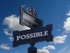 Ne partez pas perdant, ce qui vous semble impossible ne l'est probablement pas